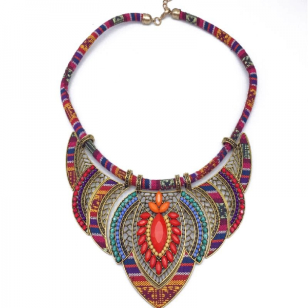 tribal-necklace-red