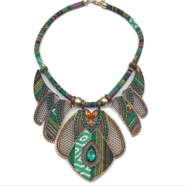 tribal-necklace-green